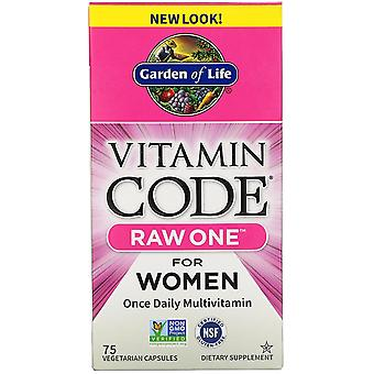 Garden of Life, Vitamin Code, RAW One, Once Daily Multivitamin for Women, 75 Veg