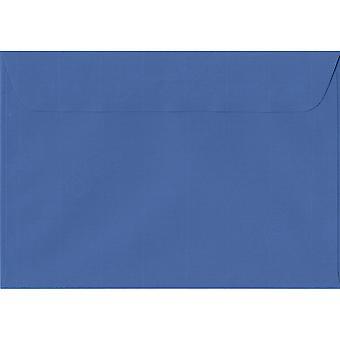 Royal Blue Peel/segl C5/A5 farvet blå konvolutter. 100gsm schweiziske Premium FSC-papir. 162 mm x 229 mm. tegnebog stil kuvert.