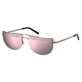 Sunglasses Women halbrandlos rose gold/pink
