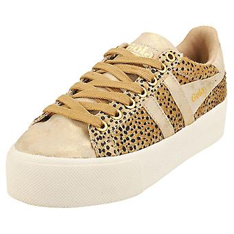 Gola Orchid Plattform Savanna Womens Mode Utbildare i Tan Gold