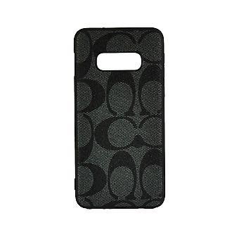 الهاتف حالة صدمة غطاء مونوغرام GG لسامسونج S10 (رمادي داكن)