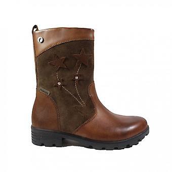 Ricosta Steffi 7224600-262 Tan Suede/Leather Girls Long Leg Boots