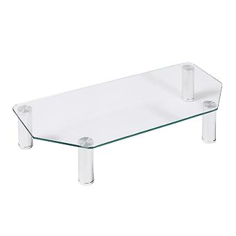 Furinno Barrow Monitor Stand, Clear, FCM1601-4