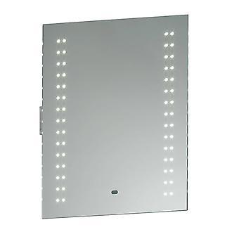 Badezimmer Wandleuchte Silber IP44 mit gespiegeltem Glas