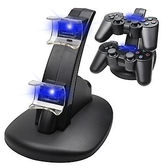Dual-charger For Ps3, Charging Dock-stand + Usb-cable For Sony Playstation 3,