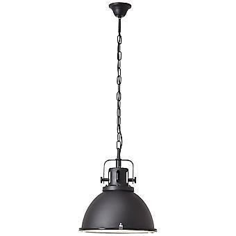 Lampada BRILLIANT Lampada Jesper Lampada a sospensione 38cm Vetro Nero 1x A60, E27, 60W, adatto per lampade normali (non incluse)