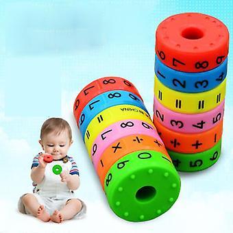 6pcs/set Multiplication Magnetic Column Figure Arithmetic Building Blocks Kids