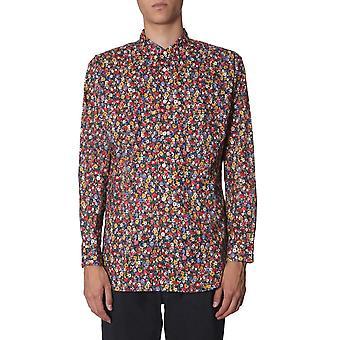 Comme Des Garçons Shirt W270432 Men's Multicolor Katoen shirt