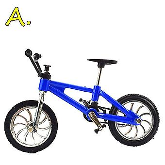 Finger Bmx Bike Toys For Boys - Mini Bike With Brake Rope Alloy Bmx Functional Mountain Bicycle Model Toys For Children Gift