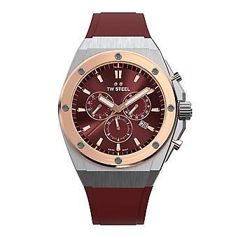 TW Stål TWCE4045 Ceo Tech Red Dial Chronograph Armbåndsur