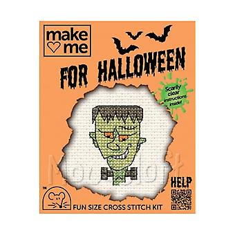 Frankenstien - Make Me for Halloween Small Counted Cross Stitch Kit