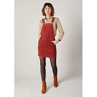 Cerys red cord pinafore