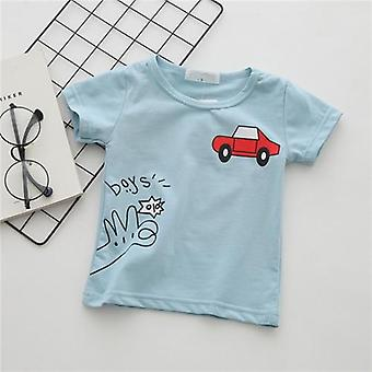 Cartoon Car Baby Boys T-shirty Summer Short Sleeve Tops Fashion Clothing Kids