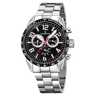 Candino Swiss C4429-C Men's Black Dial Chronograph Wristwatch