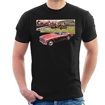 Austin Healey Sports Horses Jump British Motor Heritage Men's T-Shirt