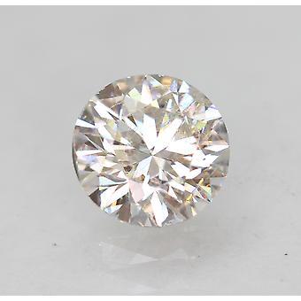 معتمد 0.53 قيراط E VS1 جولة رائعة المحسنة الطبيعية فضفاضة الماس 5.25mm