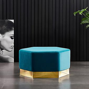 Lucci Xl Lux Pouffe Teal