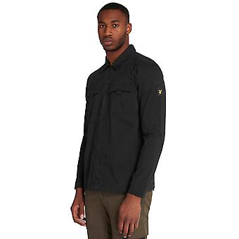 Lyle & Scott Casuals Zip Detail Overshirt - Jet Black