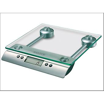 Salter Aquatronic Glass Scale Stainless Steel 3003SSSVDR