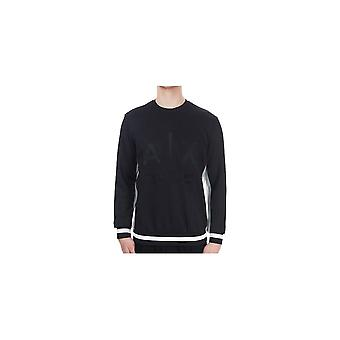 ARMANI EXCHANGE Black Embossed Logo Sweatshirt