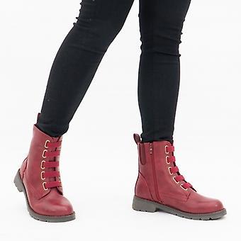Heavenly Feet Ingrid Ladies Ankle Boots Ruby