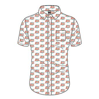 David Bowie Shirt Logo repeat Pattern new Official Mens White Casual