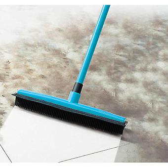Long Push Rubber Bristles Broom For Pet/ Cat/ Dog/ Hair Carpet