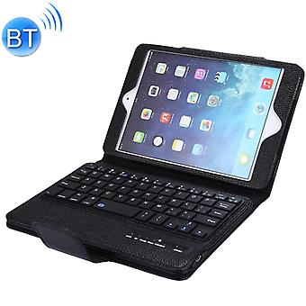 SPM01 iPad mini 5 / 4 / 3 / 2 / 1 Litchi Texture Irrotettava muovinen Bluetooth-näppäimistön nahkakansi jalustatoiminnolla (musta)