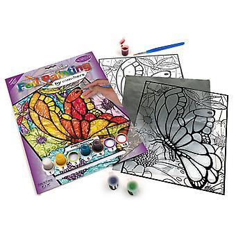 Pintura de papel alumínio real e langnickel por borboletas numéderas projetadas conjunto de pintura