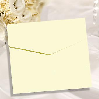 10 Opal Pearlescent Square Pocketfold Invitations