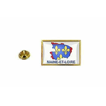 pinheiro emblema pinheiro pin-apos;s bandeira país mapa departamento maine e loire
