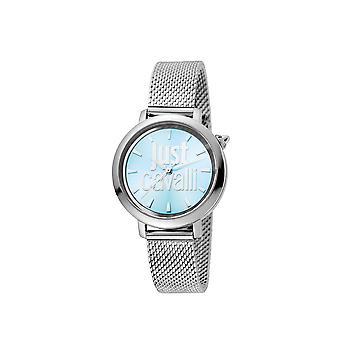 Just Cavalli JC1L007M0055 Womens SS horloge met ijsblauwe wijzerplaat