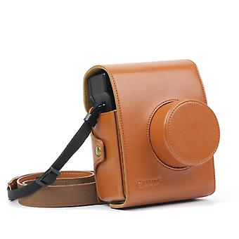 Vintage PU Leather Camera Case Bag For LOMO Automat Instax Camera (Brown)