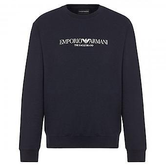 Emporio Armani Black Crew Neck Logo Sweatshirt 8N1ME8 1J04Z