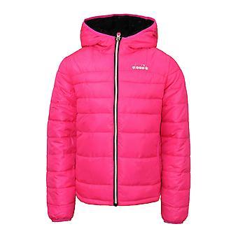 Diadora Kids Lightweight Hooded Winter Jacket Pink Coat 102.171116 97006 A48D