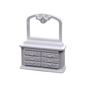 5pcs Dollhouse Dressing Table Mini Furniture Table Bedroom Decoration Cabinet