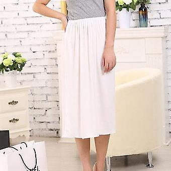 Women Half Slips Solid Casual Petticoat Skirt Knee Dress Skirts Underdress