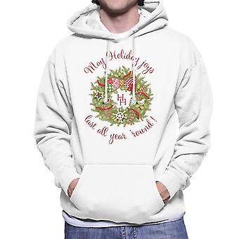 Holly Hobbie Weihnachten Mai Urlaub Freude letzte Männer's Kapuzen Sweatshirt