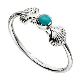 Elementer Sølv Kvinder 925 Sterling Sølv Turkis Ring