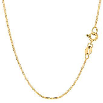 10 k geel gouden Mariner Link Chain Bracelet, 1.2mm