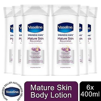 6x of 400ml  Vaseline Intensive Care Healing Moisture Lotion, Mature Skin