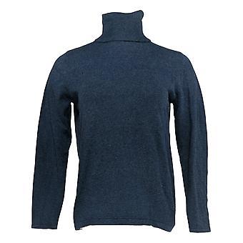 Joan Rivers Women's Top Wardrobe Builders Knit Turtleneck Blue A308194