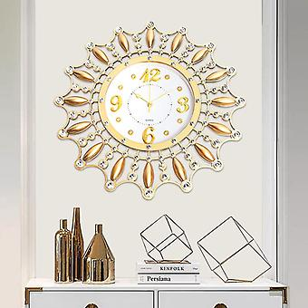3D diy kreative Blume Silen Metall Kunst Wanduhr Home Office moderne Dekoration Uhr