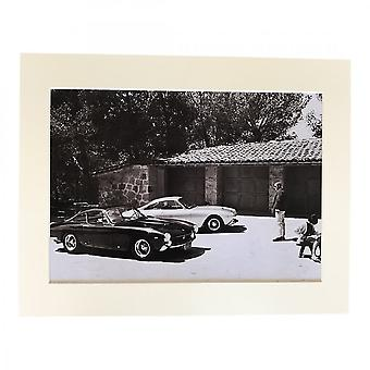 Larrini Mcqueen At Home With 250 Lusso Ferraris A4 Mounted Photo