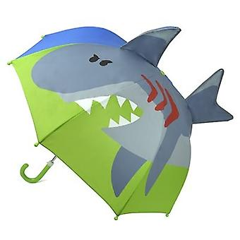 Drizzles Childrens/Kids 3D Shark Umbrella