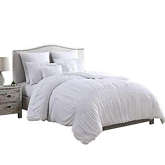 Hamburg 7 Piece King Size Comforter Set With Textured Details The Urban Port, White