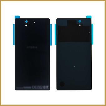 Til Sony Xperia Z L36h L36i Lt36h C6602 C6603 Batteri Bagside Dørkasse - Sort