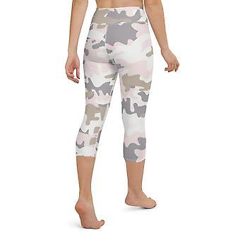Pastel Camo Sporti, High-waist Capri Leggings