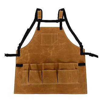 Garden tool apron adjustable waist with pockets waterproof canvas home organizer
