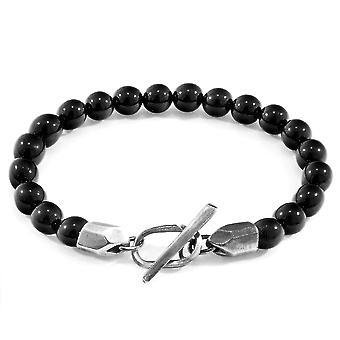 ANCHOR & CREW Tinago Silver e Bracelete de Contas de Pedra